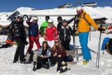 Group of Liberty Specialty Markets employees enjoying a day on the ski slopes
