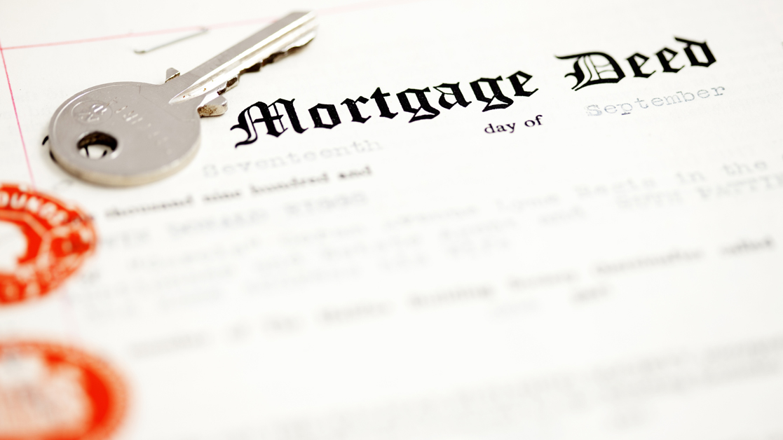 close up of mortgage deed