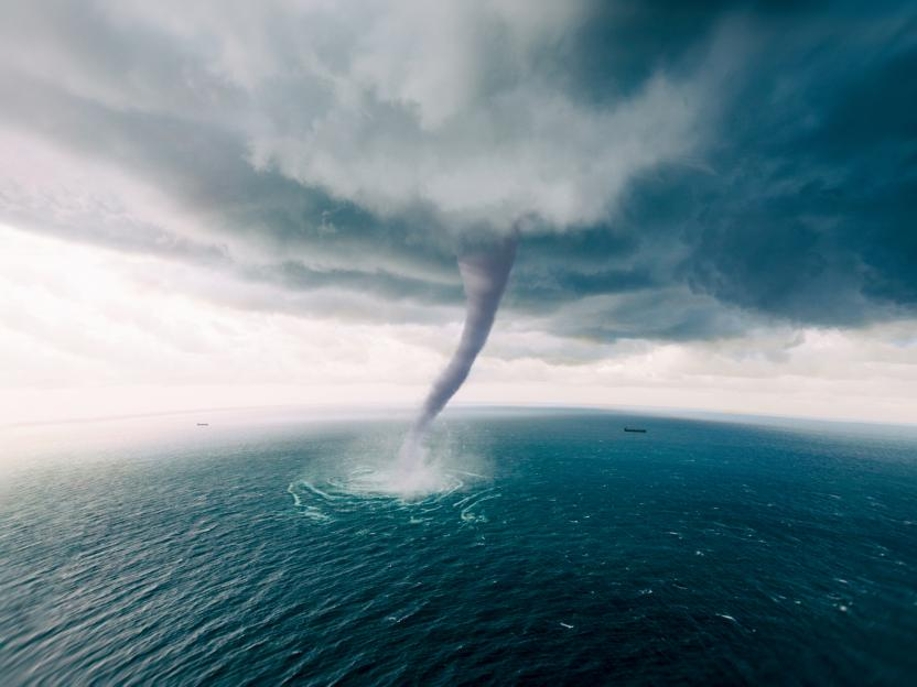 Twister Tornado over the sea