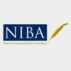 Navy blue and gold National Insurance Brokers Association logo