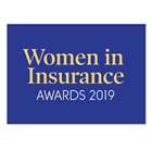 Women in Insurance Awards 2019 logo on a purple background